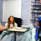 Robert and Michelle in hospital from an episode of Coronation Street (ITV/PA)