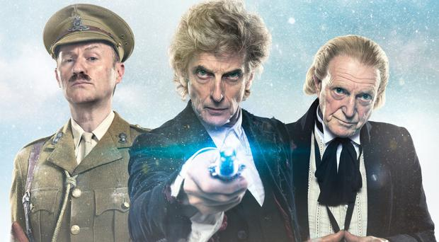 Mark Gatiss, Peter Capaldi, and David Bradley