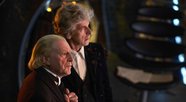 Peter Capaldi and David Bradley (Simon Ridgway/BBC/BBC Worldwide)