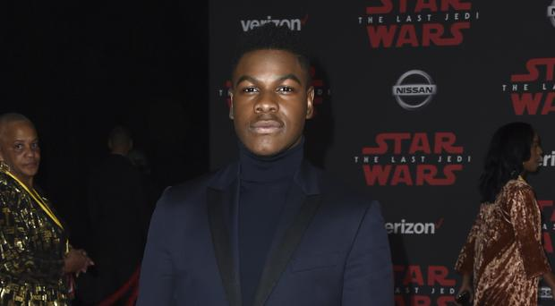 John Boyega having made it to the premiere