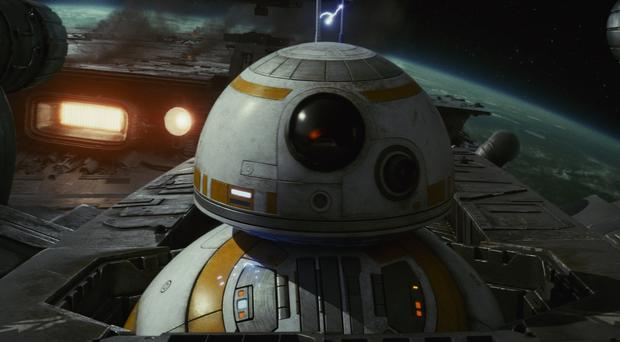 BB8 in The Last Jedi (Lucasfilm/Disney/PA)