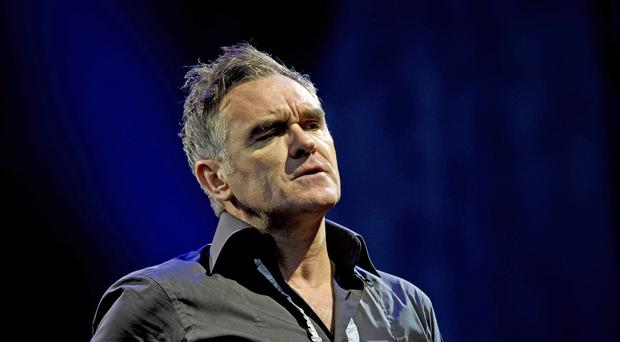 Morrissey performs at Glastonbury (Ben Birchall/PA)