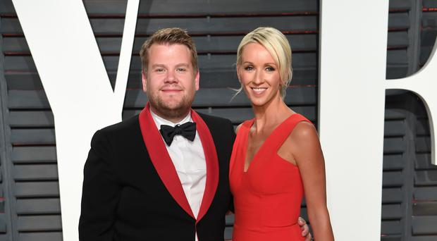 James Corden and Julia Carey (PA)
