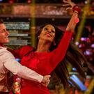 Alexandra Burke produced a perfect display at the start of the Strictly final (Guy Levy/BBC/PA)
