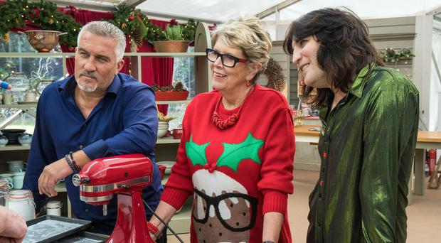 Paul Hollywood, Prue Leith and Noel Fielding