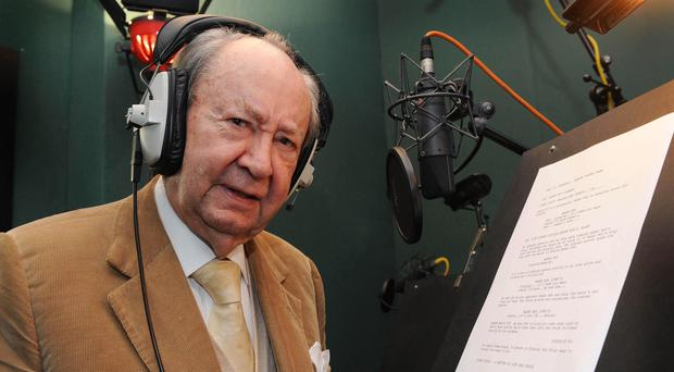Peter Sallis 87th birthday during recording of Wallace and Gromit – London