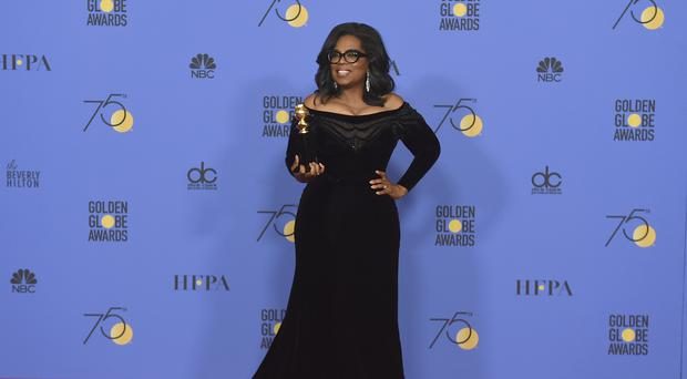 Oprah Winfrey at the Golden Globes