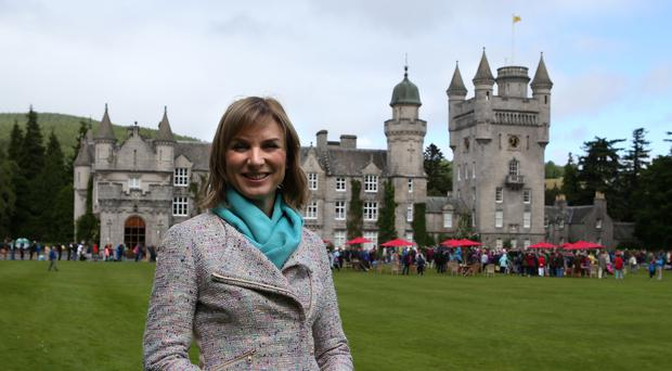 Fiona Bruce filming Antiques Roadshow (Andrew Milligan/PA)