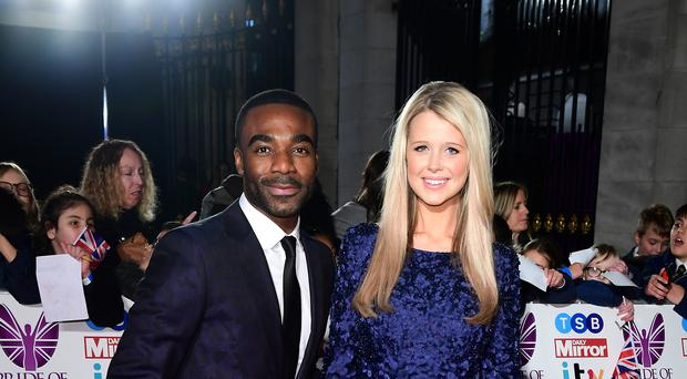 Ore Oduba and his wife Portia (Ian West/PA)