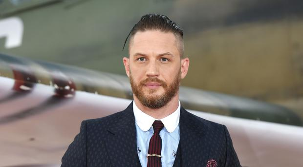 Tom Hardy has spoken of rapping when he was younger. (Lauren Hurley/PA)