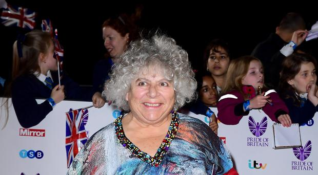 Miriam Margolyes swore on Robert Peston's show (Ian West/PA)