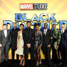 The cast and crew of Black Panther attending The Black Panther European Premiere at The Eventim Apollo Hammersmith London.