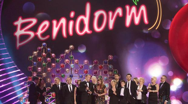 Steve Pemberton and the cast of Benidorm (Yui Mok/PA)