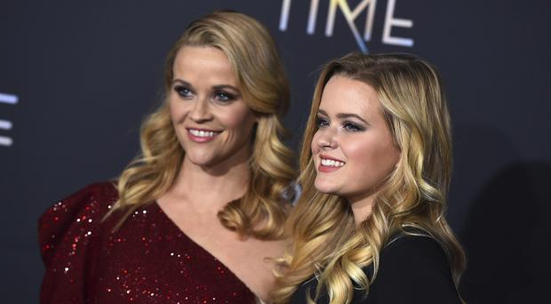 Reese Witherspoon, left, and Ava Phillippe arrive at the world premiere of A Wrinkle in Time (Jordan Strauss/Invision/AP)