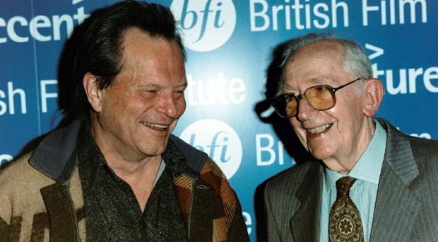 Lewis Gilbert, right, with director Terry Gilliam (MJ Kim/PA)