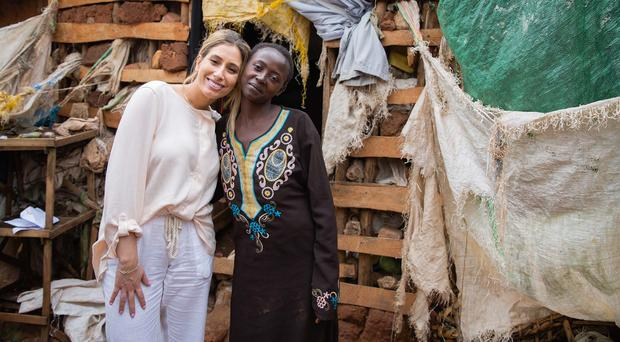 Stacey Solomon and Nubuwati in Uganda (Esther Mbabazi)