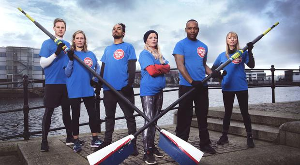 The BBC team: Dan Walker, Sophie Raworth, Dev Griffin, Ellie Harrison, Rory Reid and Sara Cox (James Stack/BBC/PA)