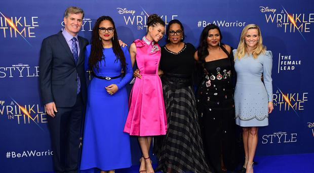Stars of A Wrinkle In Time at the European premiere (Ian West/PA)