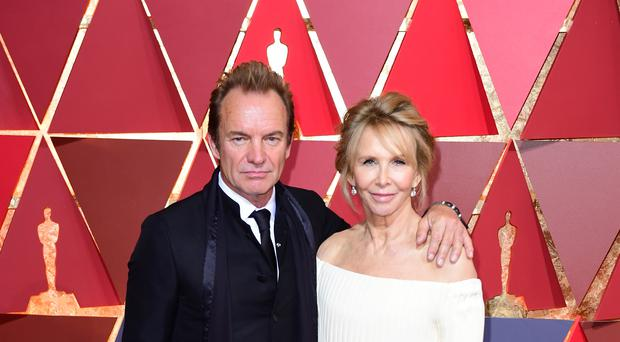 Sting and Trudie Styler (Ian West/PA)