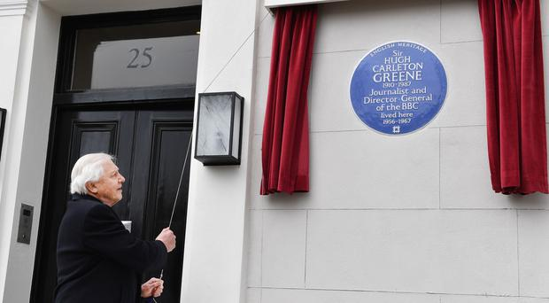 Sir Hugh Carleton-Greene blue plaque