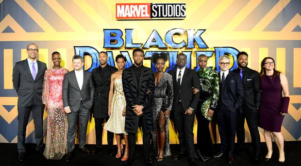 The cast and crew of Black Panther at the European premiere in London (Ian West/PA)