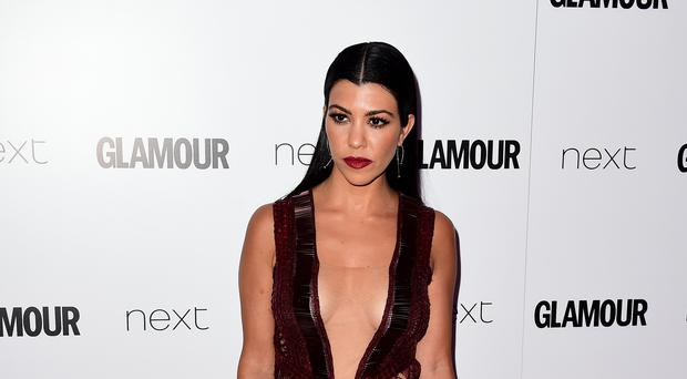 Kourtney Kardashian at the Glamour Women of the Year Awards 2016 (Ian West/PA)