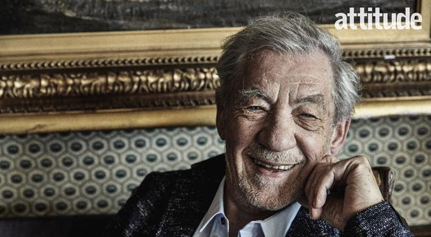 Sir Ian McKellen has spoken about his life and sexuality with Attitude magazine (Attitude/PA)