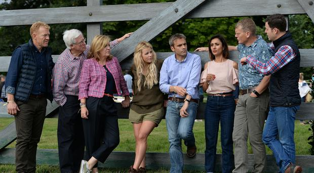 Countryfile presenters Adam Henson, John Craven, Charlotte Smith, Ellie Harrison, John Hammond, Anita Rani, Tom Heap and Matt Baker (Joe Giddens/PA)