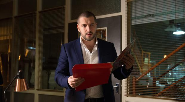 Shayne Ward said he was scared and heartbroken over the Corrie suicide storyline (ITV)