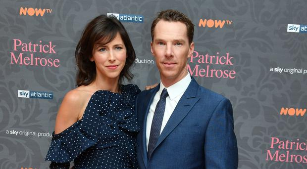 Benedict Cumberbatch with his wife Sophie Hunter (John Stillwell/PA)