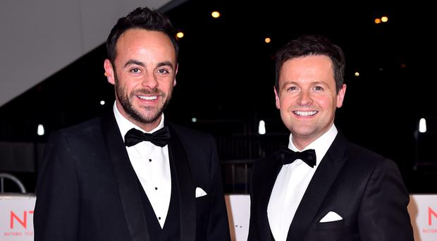 Saturday Night Takeaway is in the running for the series which Ant and Dec hosted together (Matt Crossick/PA)