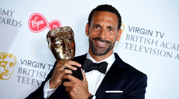 Rio Ferdinand with the single Documentary award (Ian West/PA)