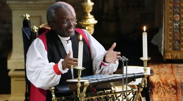 The Most Rev Bishop Michael Curry who stole the show at the royal wedding will open the final of Britain's Got Talent (Owen Humphreys/PA)