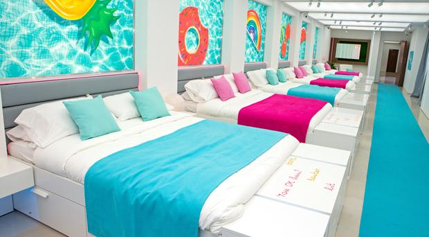 The bedroom of the Love Island villa (Rachel Joseph/ITV)