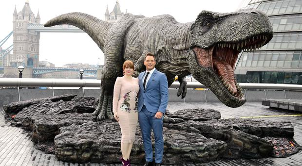 Chris Pratt (left) and Bryce Dallas Howard (Ian West/PA)