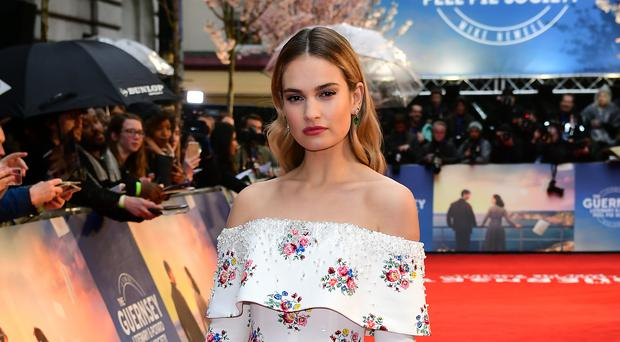 Lily James (Ian West/PA)