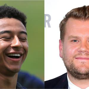 Jesse Lingard and James Corden (Mike Egerton/PA and Ian West/PA)