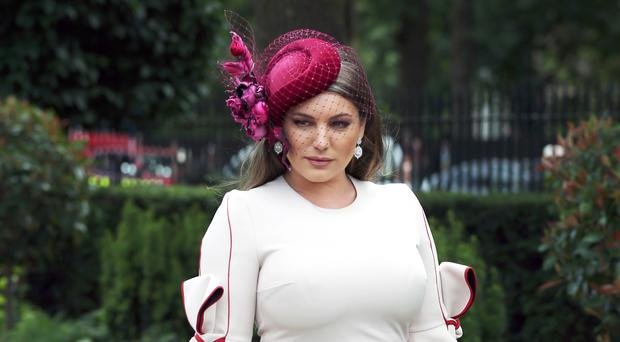 Kelly Brook at Royal Ascot (Steve Parsons/PA)
