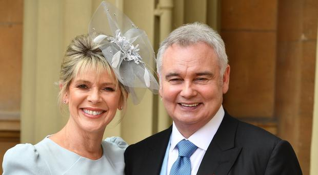 Eamonn Holmes and Ruth Langsford have sent each other romantic messages on their wedding anniversary (John Stillwell/PA)
