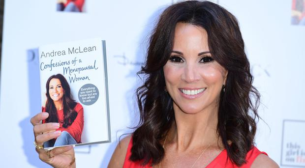 Andrea McLean was joined by some of her Loose Women co-stars (Ian West/PA)