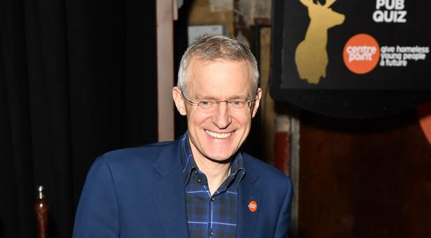 Jeremy Vine attending Centrepoint's Ultimate Pub Quiz, held at Village Underground in Shoreditch, London (Dominic Lipinski/PA Images)