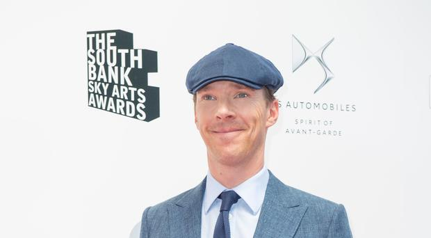 Benedict Cumberbatch was recognised at the Sky Arts awards ceremony (Dominic Lipinski/PA)