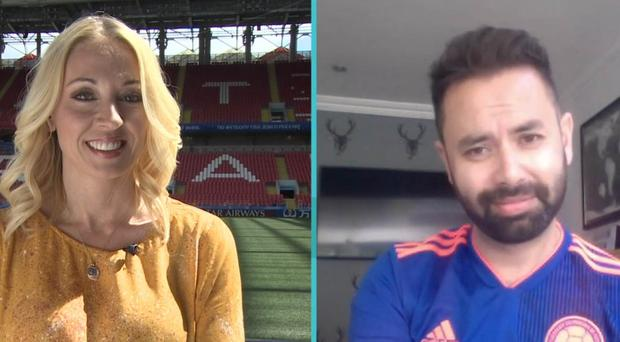 Natalie Pirks and husband Diego Rincon on BBC Breakfast (Screengrab/PA)