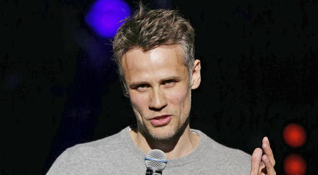 Richard Bacon's mother has thanked NHS staff for saving her son's life (Yui Mok/PA)