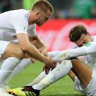 England's Dele Alli and Eric Dier after losing the World Cup semi-final at the Luzhniki Stadium, Moscow (Owen Humphreys/PA)