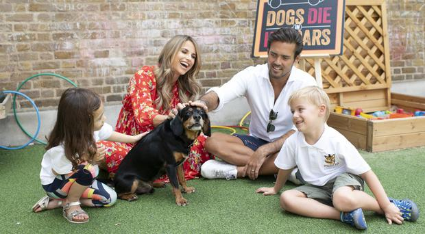 Vogue Williams and Spencer Matthews (RSPCA)