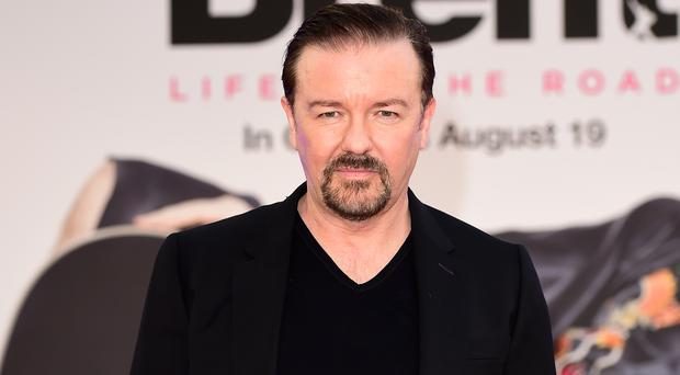 Ricky Gervais has called on his social media followers for motivation to lose weight (Ian West/PA)