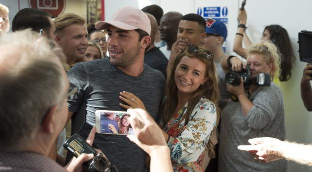 Love Island's Dani Dyer and Jack Fincham – We can't wait to go for a Nando's (David Mirzoeff/PA)