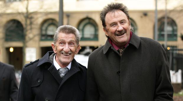 Paul Chuckle (right) with brother Barry (Yui Mok/PA)