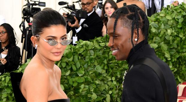 Kylie Jenner and Travis Scott (Ian West/PA)